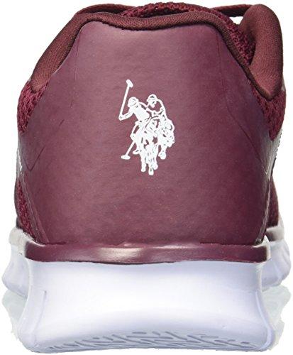 U Burgundy S para a la Mujer Assn Geena k Tenis Moda Polo SSrxqwT
