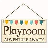 MAIYUAN Playroom Adventure Awaits Sign Home Decor