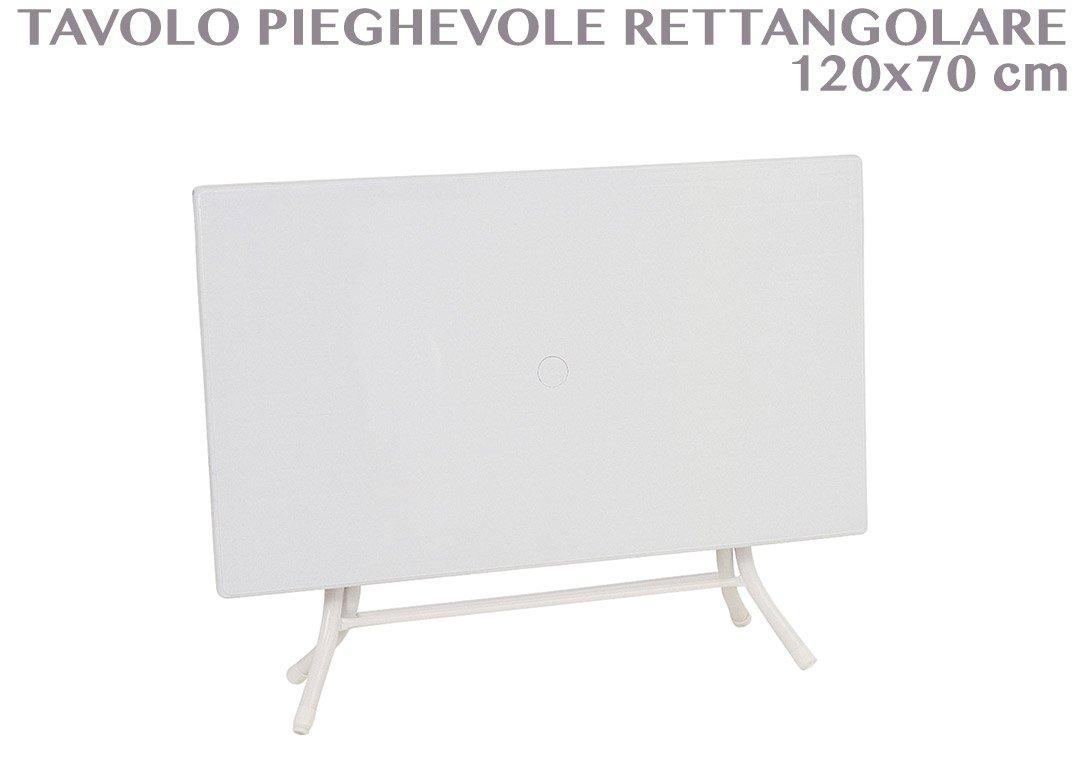 SIESTA 120x70 Mesa plegable rectangular con agujero para sombrilla ...