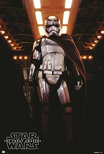 Captain Phasma with Cape and Gun - Star Wars Logo 24x36 Poster
