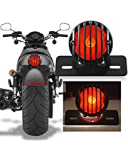 Katur Motorfietsachterlicht voor Harley Bobber Chopper Custom April IA Mana, zwart, 1 stuk