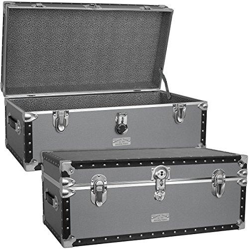 luggage silver grey classic footlocker
