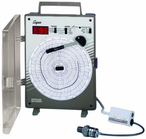Supco CR87P Pressure Circular Chart Recorder, 0/500 psi, 6