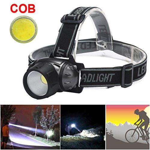 Bicycle Bike COB LED Headlight Front Ride Riding Cycling AAA Head Light Lamp US