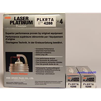 6 PCSNEW -- NGK # 4288 Laser Platinum Spark Plugs PLKR7A: Automotive