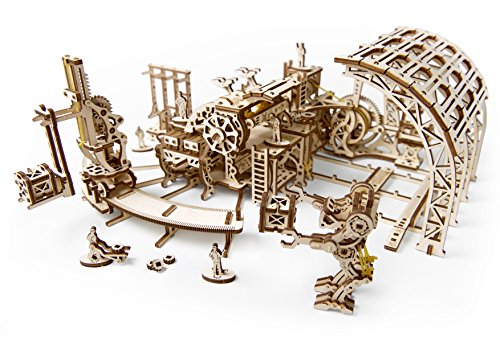S.T.E.A.M. Line Toys UGears Mechanical Models 3-D Wooden Puzzle - Mechanical Robot Factory 3