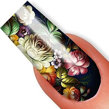 Amazon Nailart Nail Tattoo Sticker Full Cover Zhostovo