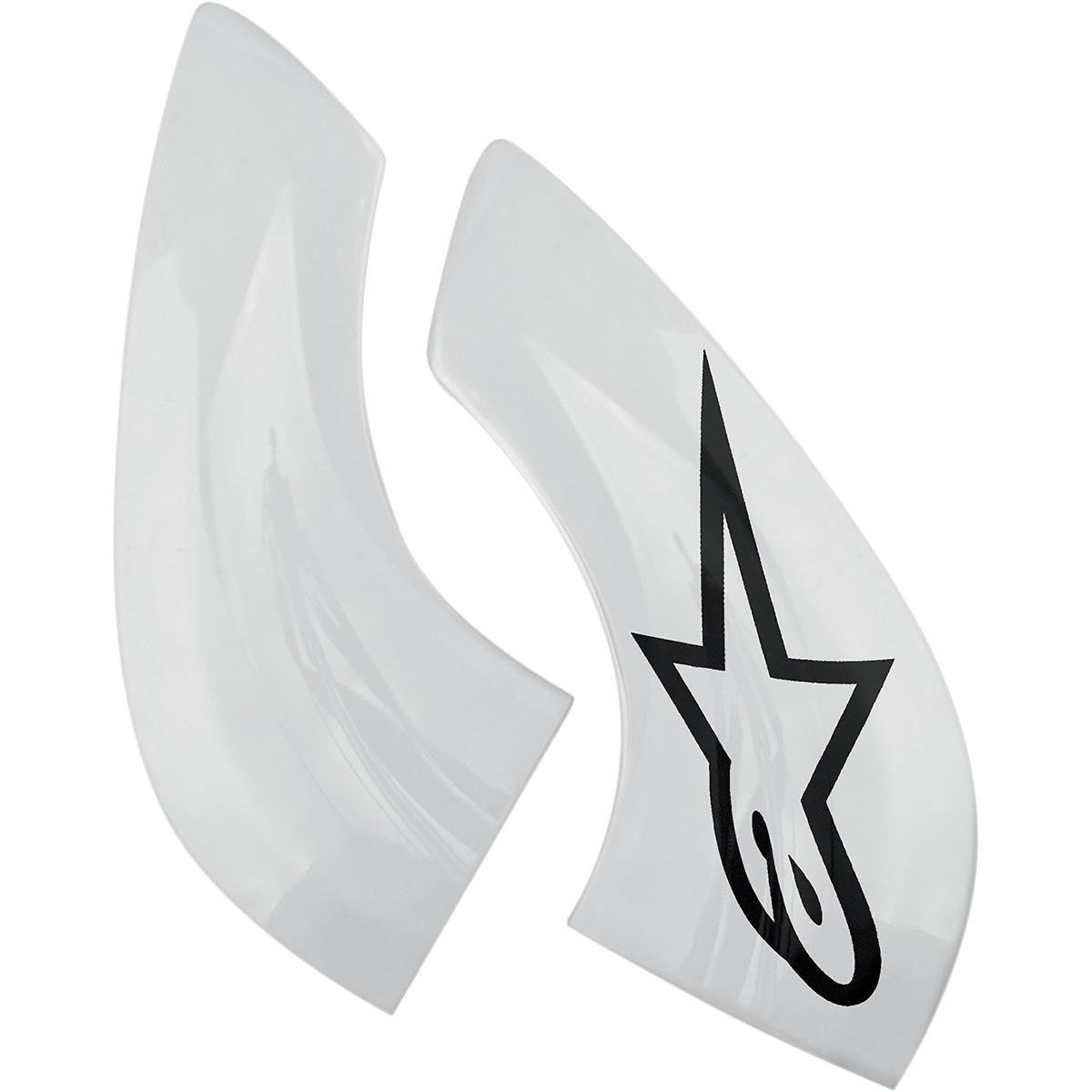 Alpinestars Men's Chin Plate For Bns Pro One Size White Black Alpinestars - US Cycling 6951114