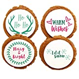 Chomp a'Lomp Cookies, Christmas Holiday Cookies, Merry & Bright, Chomp a'Lomp Clear Top Box, 4 Decorated, 8 Plain
