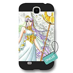 Galaxy S4 Case, [Scratch Resistant] Japanese Anime Series Saint Seiya Galaxy S4 Case, Frosted Black Hard Case for Galaxy S4