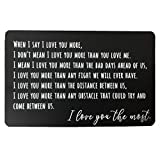 Personalized Metal Wallet Love Note Card With Gift Box Engraved Gifts For Boyfriend, Valentines Day Gift, Birthday Gifts For Men, Husband Gifts From Wife, Anniversary Gifts For Men Or Women