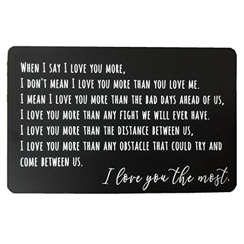 Personalized Metal Wallet Love Note Card With Gift Box Engraved Gifts For Boyfriend Valentines Day