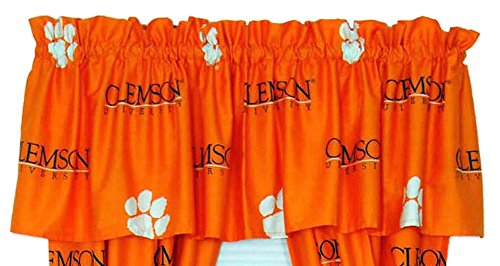 College Covers Clemson Tigers Curtain Valance from
