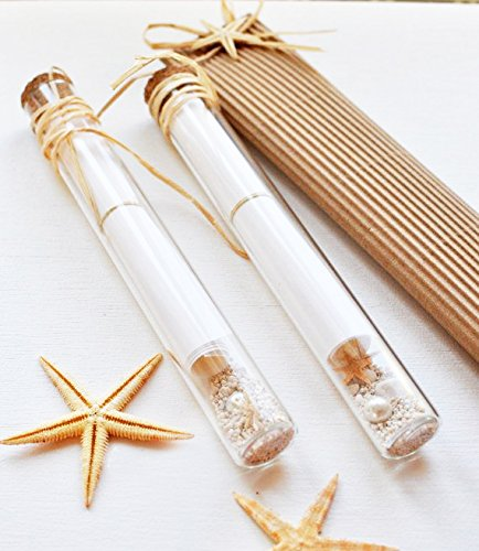 Glass Vial Invitation Tube with Cork Clear, 12 Pack