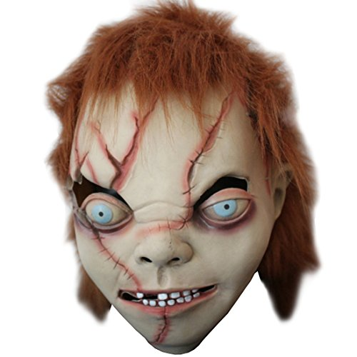Partiss Novelty Halloween Party Latex Bad Boy Ugly Head Mask,One size,As (Freddy Krueger Costume Pictures)