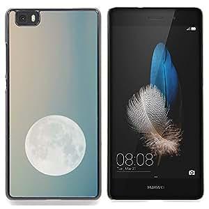 "For Huawei Ascend P8 Lite (Not for Normal P8) Case , Noche de Luna Cielo azul del trullo Planetas Tierra"" - Diseño Patrón Teléfono Caso Cubierta Case Bumper Duro Protección Case Cover Funda"