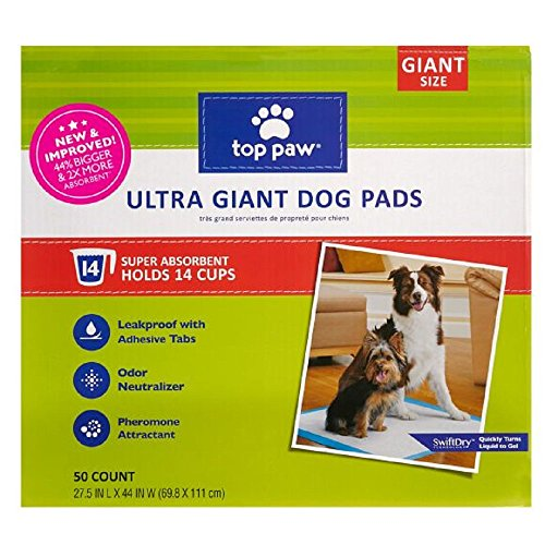 New & Improved Top Paw Ultra Giant Dog Pads | 44% Bigger & 2X More Absorbent (50 Count - 1 ()