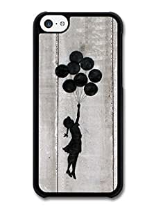 AMAF ? Accessories Banksy Balloon Girl Silhouette Gray Street Art case for iPhone 5C