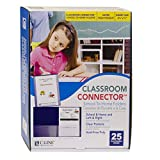 C-Line Classroom Connector School-to-Home Folders, Blue, 25 per Box (32005)