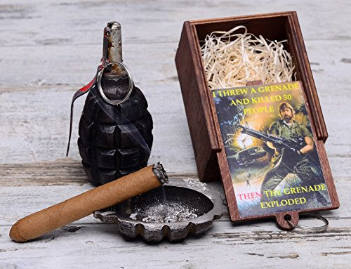 Upcycled Art Metal Ashtray Cigarette Cigar Stand F1 Grenade WW2 WWII by  Trench Art Studio