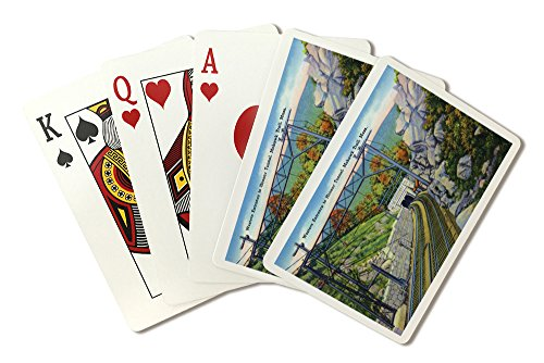 Berkshire Mountains, MA - Mohawk Trail View of W. Entrance to Hoosac Tunnel (Playing Card Deck - 52 Card Poker Size with Jokers)