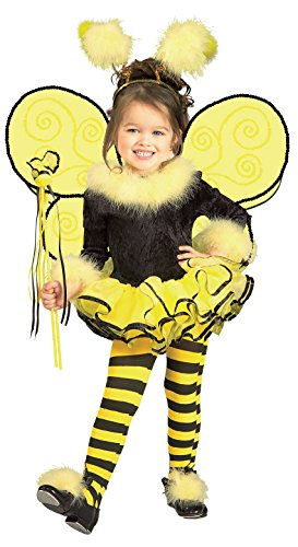 Halloween Costumes For Toddler Girls (Rubie's Child's Costume, Bumblebee Tutu Costume-Toddler)