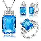 JMOSUYA-925-Sterling-Silver-Plated-Jewelry-Set-For-Women-Swarovski-Element-Crystal-Earring-Necklace-Set
