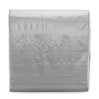 10x12 Heavy Duty Tarp, Waterproof Plastic Poly 10 Mil Thick Tarpaulin with Metal Grommets Every 18 Inches - for Roof, Camping, Outdoor, Patio. Rain or Sun (Reversible, Silver and Brown) (10 x 12 Foot)