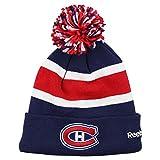 "Reebok NHL ""Bar Stripe"" Knit Beanie Hat (Montreal Canadiens)"