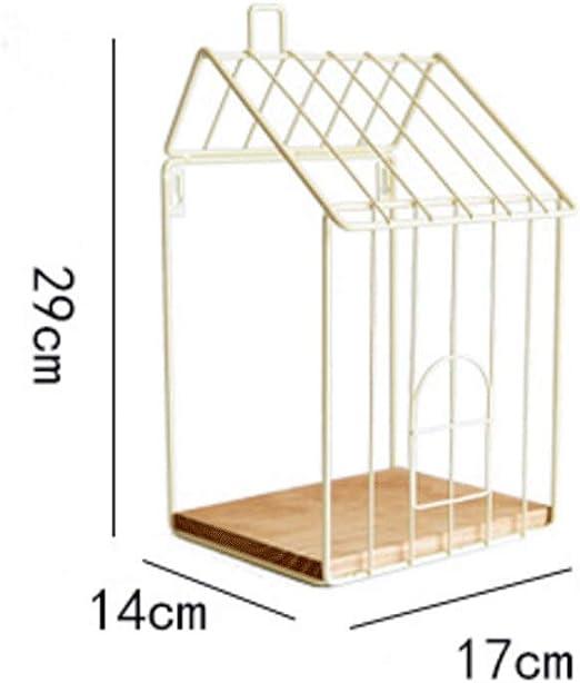 CHX Estantería de Hierro del Arte - Montaje en la Pared Retro Manual Tipo de habitación Soporte de exhibición de Pared Decoración del hogar Soporte de Flores CHXSF (Color : Beige): Amazon.es: