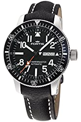 Fortis Men's 647.29.41 L.01 B-42 Official Cosmonauts Diver Day/Date Titanium Analog Display Automatic Self Wind Black Watch