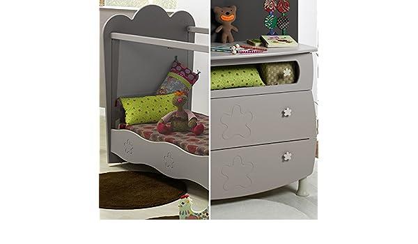 Cuna plexiglás 60 x 120 y cómoda cambiador bebé Provence Linéa – Lin: Amazon.es: Bebé