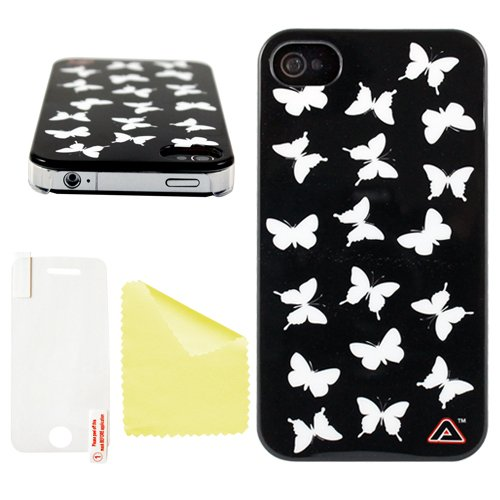 Advanced Accessories Schmetterling Mono Swanky Hartschale für iPhone 4/4S