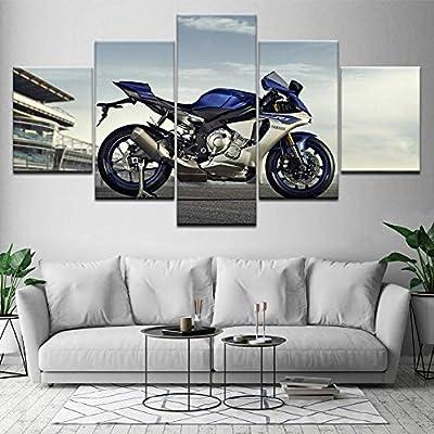 Motogp Racer,5PC Canvas HD Prints Painting Wall Art Home Decor
