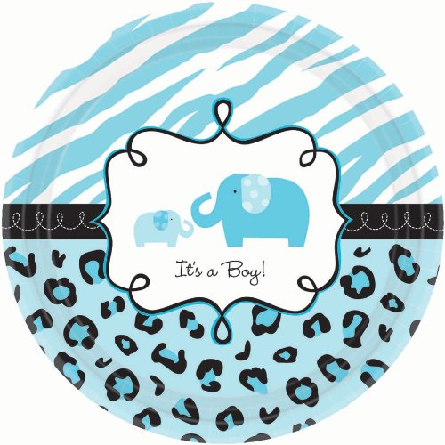 safari baby shower plates - 1