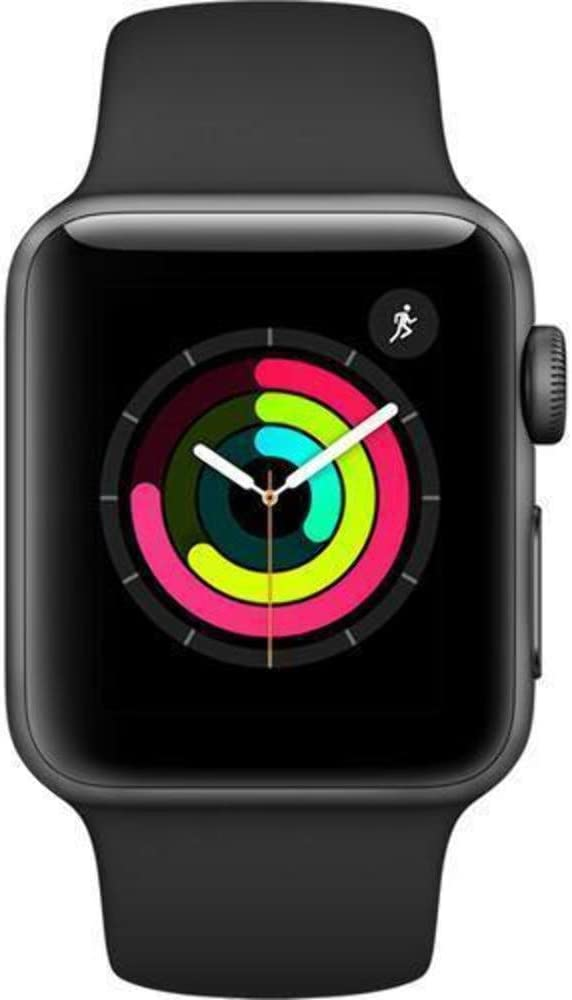 B078XLP4S5 Apple Watch Series 3 - GPS + Cellular - Space Gray Aluminum Case with Black Sport Band - 42mm MQK22LL/A(Renewed) 51flxvfFboL.SL1000_
