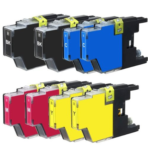 New Set of 8 LC75 High Yield Compatible Ink Cartridge Combo (New Compatible Ink)