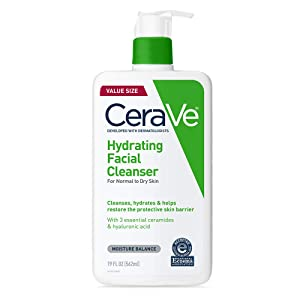 CeraVe Hydrating Face Wash | 19 Fluid Ounce | Daily Facial Cleanser for Dry Skin | Fragrance Free