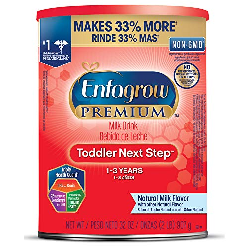 - Enfagrow PREMIUM Toddler Next Step, Natural Milk Flavor - Powder Can, 32 oz