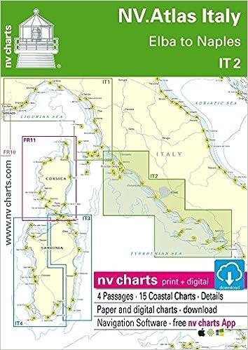 Nv Atlas Italy It 2 Elba To Naples Seekarte Italien Papier