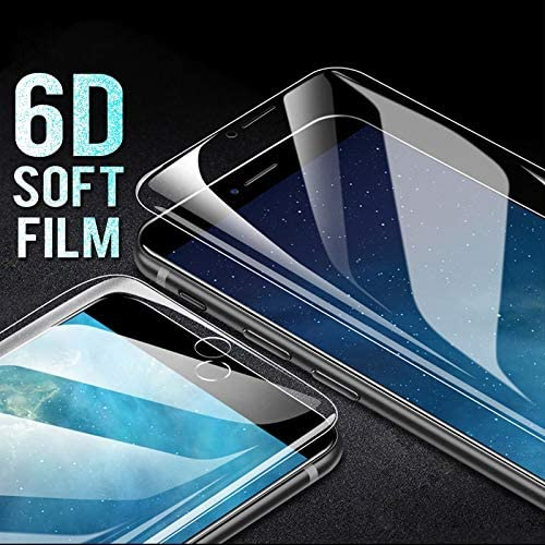 iPhone 7 8 HighTech 6D Soft Screen Protector for iPhone 6 6S 7 8 Plus X 10 Full Cover Hydrogel Film On The for iPhone Xs XR 6 7 Film Not Glass