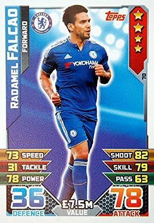 Match Attax 2015-2016 Radamel Falcao Chelsea no 70