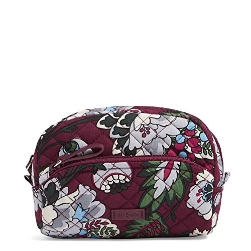 Vera Bradley Womens Iconic Mini Cosmetic,  Signature Cotton, bordeaux blooms,One Size