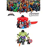 ABG TOYS Minifigures MARVEL DC COMICS Avengers Hulk, Red Hulk, Captain America, Crossbones, She-Hulk, Red She-Hulk, Super-Adaptoid, Iron Man, Coulson, Hammer, Winter Soldier, Ms Marvel Building Blocks Sets Toys