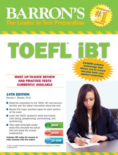 Barron's TOEFL iBT with Audio CDs and CD-ROM, 14th Edition