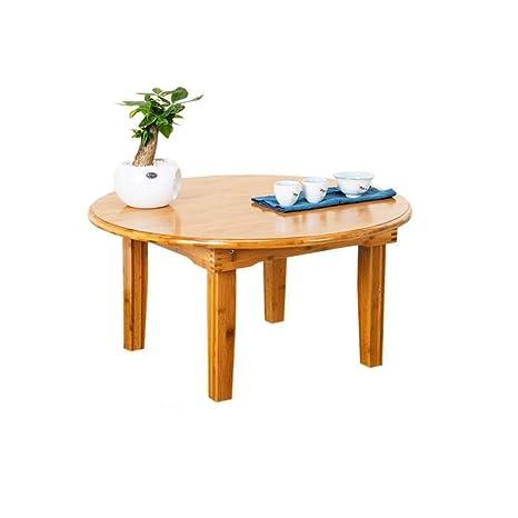 Amazon.com: Xiaoyan - Mesa baja de comedor plegable de bambú ...