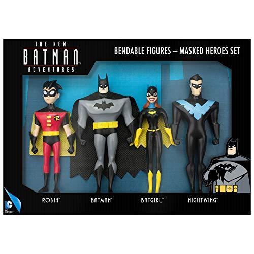 NJ Croce Masked Heroes Set incl. Robin, Batman, Batgirl & Nightwing Action Figure