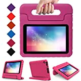 LTROP All-New Kid-Proof Case for Amazon Fire 7 Tablet (7th Generation, 2017 Release) - Rose