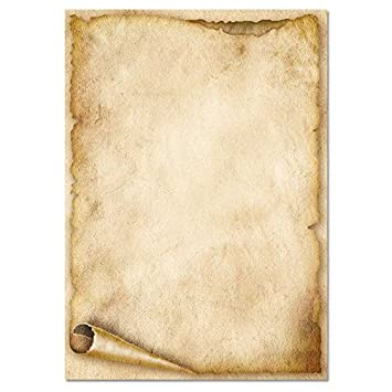 Papier à Motif à Lettres Vieux Rouleau De Papier Din A6 Format 100