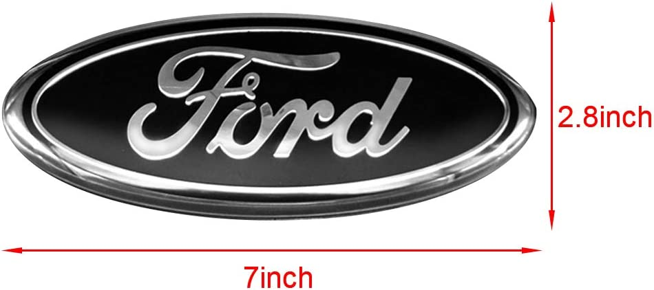 3D Oval 3M Double Side Adhesive Tape Sticker Badge for Ford Escape Excursion Expedition Freestyle F-150 F-250 F350 Red Ruanye For FORD 7 Inch Front Grille Tailgate Emblem